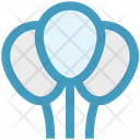 Gas Balloons Bubble Decorations Icon