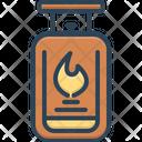 Gas Flame Burn Icon