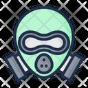 Gas Mask Acid Rain Nuclear Icon