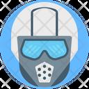 Gas Mask Police Mask Danger Icon