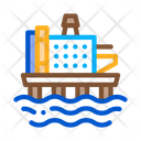 Offshore Gas Station Icon