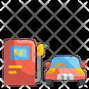 Gas Station Petrol Station Vehicle Icon