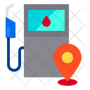 Gas Station Pin Locations Icon