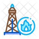 Gas Tower Fuel Icon