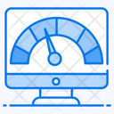 Gauge Chart Analytical Chart Speedometer Icon