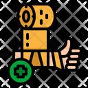 Gauze Bandage Wound Icon
