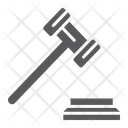 Gavel Justice Judge Icon
