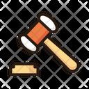 Gavel Law Judge Icon