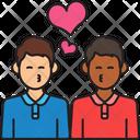 Men Couple Kiss Icon