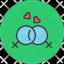 Gay Love Romance Icon