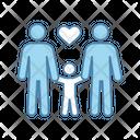 Family Homosexual Couple Icon