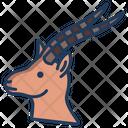 Gazell Animal Zoo Icon