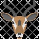Brown Gazelle Face Icon