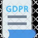 Gdpr Documentv Gdpr Document Document Icon