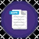 Gdpr Document Document File Icon