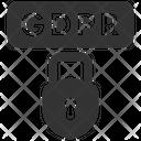 Data Gdpr Closed Icon