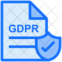 Gdpr Secure File Gdpr Document Icon