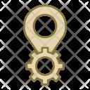 Gear Pin Seo Icon