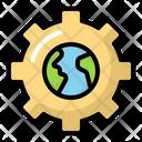 Gear Earth Cogwheel Icon