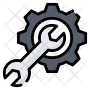 Gear Cogwheel Wrench Icon