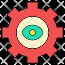 Gear Setting Eye Icon