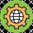 Gear Globe World Icon