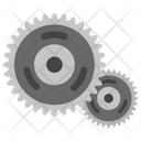 Gear Box Gears And Bearings Automobile Parts Icon