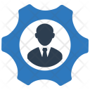 Gear Businessman Manager Icon