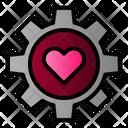 Gear Heart Icon