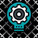 Gear Lightbulb Icon