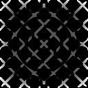 Gears Clockwise Rotation Icon
