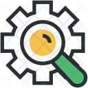 Gearwheel Investigation Magnifier Icon