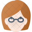 Geek Glases Woman Icon