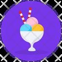 Gelato Ice Cream Ice Cream Scoops Icon