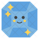 Gem Face Emoticon Emotion Icon
