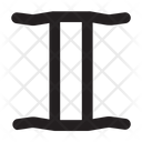 Gemini Astrology Symbol Icon