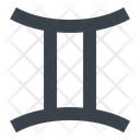 Gemini Twins Constellation Icon