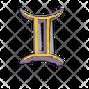 Gemini Zodiac Sign Icon