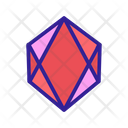 Diamonds Contour Concept Icon