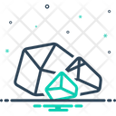 Rough Crystal Rugged Icon