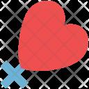 Valentine Plus Sign Icon
