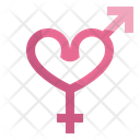 Gender Sign Heart Icon