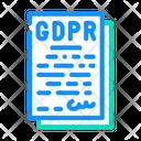 General Data Gdpr File Gdpr Icon