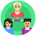 Family Hierarchy Generation Hierarchy Family Network Icon