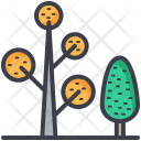Trees Plants Dotted Icon