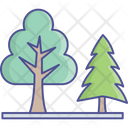 Eco Generic Trees Nature Concept Icon