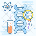 Genetics Genetic Engineering Dna Structure Icon