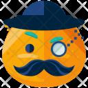 Gentleman Emoji Face Icon
