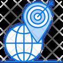 Geo Targeting Geomarketing Global Targeting Icon