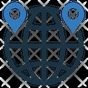 Geo Target Globe Grid Icon